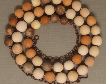 Terra Cotta Bead Necklace