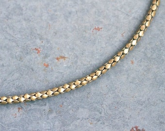 Patina brass Chain Necklace