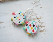 Polymer Clay Colorful Earrings