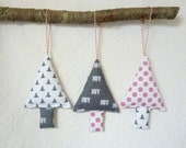 Fabric christmas ornaments tree decorations