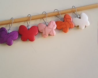 Colorful Destressed Starfish Knitting Stitch Markers A