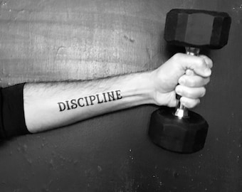 Discipline Temporary Tattoo - Exercise / Workout / Motivation / New Year New You