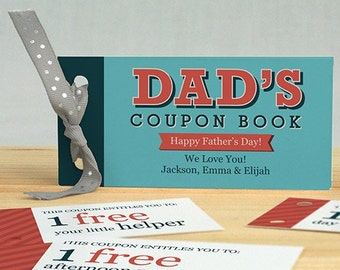 Personalized Father's Day Coupon Book, unique gift for dad, grandpa, Father's Day -gfy11037317