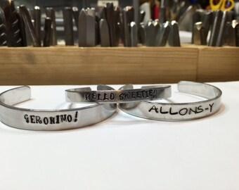Hand-stamped Doctor Who Bracelet