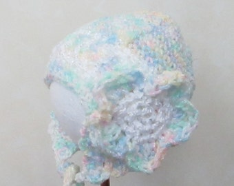 Baby Girl Hat, Baby Hat, Flap Hat, Flower Hat. Flower Flap Hat BG015