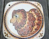 Ceramic Trivet by Rothwoman Hen Chicken