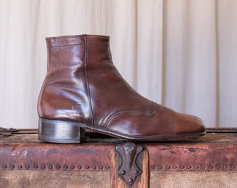 leather ankle boots - 7.5 men