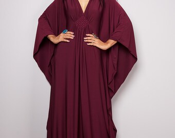 Maxi Dress - Kimono Butterfly Maroon Maxi Dress : Funky Elegant Collection No.1s