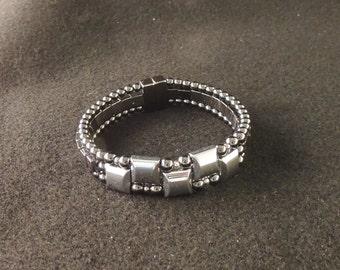 Triple Magnetic Hematite Bracelet