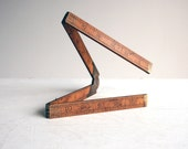 boxwood antique folding wooden ruler tool