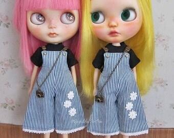 Blythe 59001 : Striped overalls set