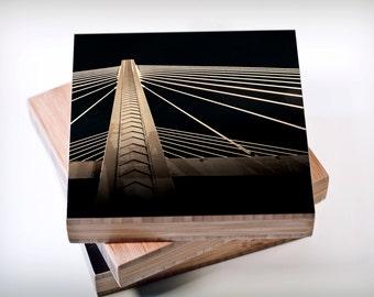 Photography//Suspension Bridge//Tacoma//Washington//modern architect art//Night