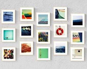 nautical prints // nautical decor // beach art set // - set of fifteen nautical art photography prints
