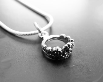 princess crown pendant 925 sterling silver with 925 chain