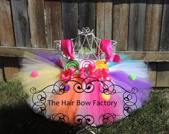 The Hair Bow Factory Over the Top Lollipop Candy Tutu Dress Size 8 to Size 12
