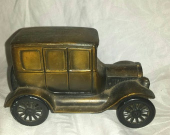 Vintage Brass FORD Advertising Bank