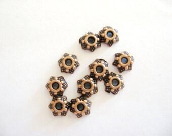 Bead Caps, Copper Bead Caps, 5 mm Bead Caps, Copper Jewelry Findings