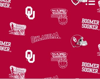 "Cheeky Cloth One Size Organic Bamboo AI2 diaper ""university of oklahoma sooners"""
