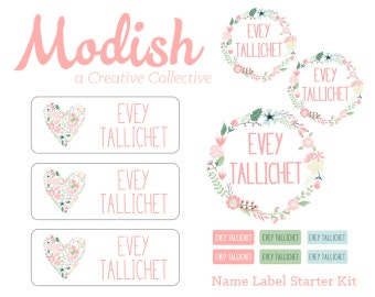 Waterproof Name Labels, Iron-On Clothing Labels, Daycare Name Labels, School Name Labels, Waterproof, Dishwasher Safe, Starter Kit, Pack
