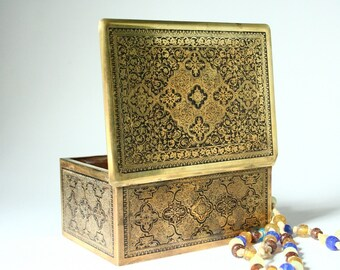 Vintage brass box, Middle Eastern box