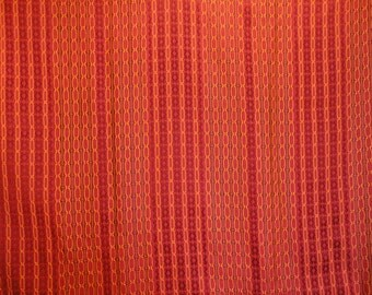 Vintage Retro 70's Woven Textured Fabric Material Textile Yardage Striped 3.9' x 10'