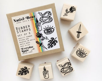 Everyday Magic Rubber Stamp Set