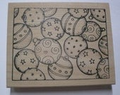 Wood Mounted Rubber Stamp - Ornaments Background Stamp - Peddler's Pack