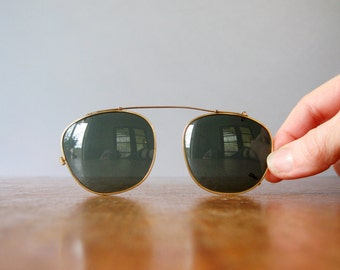 Vintage Bausch Lomb Ray Ban Sunglass Clip On Covers / Case