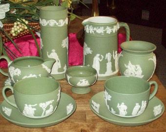 Wedgewood Green Jasperware- Vintage