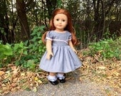 1950s Dress in Pink and Gray for Maryellen or 18 inch Doll