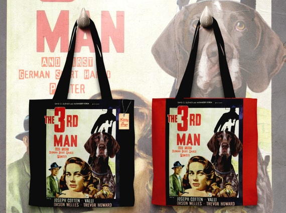 German Shorthaired Pointer Art Tote Bag - The Third Man Movie Poster NEW Collection by Nobility Dogs