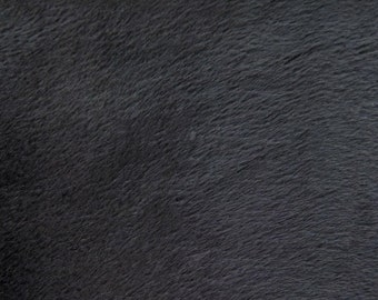 "Faux Fake Fur Solid Velboa  Fabric by the Yard  black 60"" wide baby clothes, costumes, teddy bears"