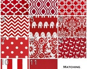 SALE Contemporary Valances- Premier Prints Lipstick Red Valance- 50x16 inches- You Choose Fabric- Window Treatments- Drapes- Window Shade