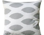 SALE Ikat Pillow- Premier Prints Grey Chipper Pillow Cover- 20x20 or Choose Size- Zippered Pillow- Cushion Cover- Living Room Accent