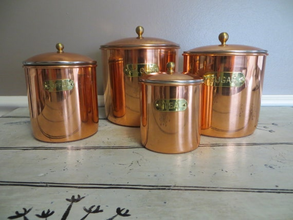 beautiful kitchen canisters beautiful copper canister set vintage canisters metal 10653