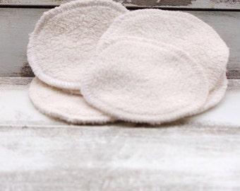"6 -4"" Facial rounds 2 ply makeup remover pad Facial pads circular washcloth organic cotton sherpa oil cleansing"