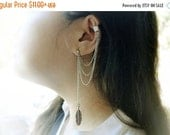 VALENTINES DAY SALE Feather Chain Ear Cuff (Pair)