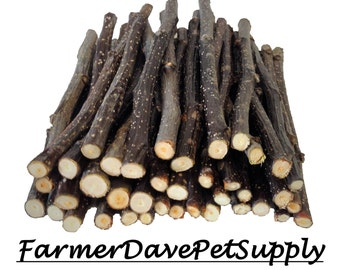 40 Premium Apple Thin Chew Sticks For Rabbits, Guinea Pigs, Chinchillas, Gerbils, Hamsters,,,,,,