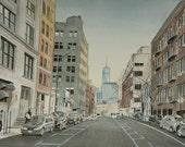 Manhattan Freedom Tower One World Trade Center New York Original Painting