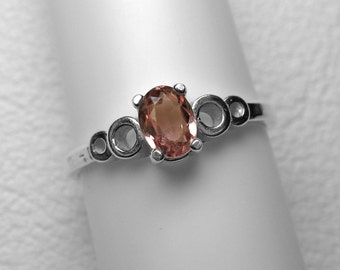 Imperial Topaz Ring in Silver, 6 x 4 mm