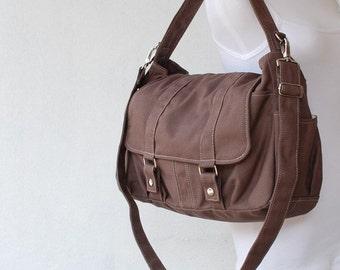 Back To School SALE 30% - Pico2 in Cinnamon/ Purse / Laptop / Shoulder bag /Diaper Bag/ School Bag/ Women /For Her/ Gift / Hobo Bag / Tote /