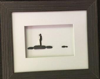 Wedding pebble art by sharon nowlan