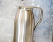 Vintage Stainless Steel Pitcher Silver Large