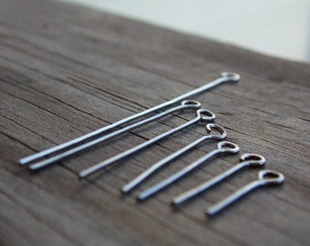 700 Gunmetal Eye Pins Assorted Sizes 21 gauge
