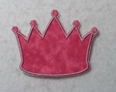 Princess Crown - MADE to ORDER - Choose COLOR and Size - Tutu & Shirt Supplies - fabric Iron on Applique Patch z 7443