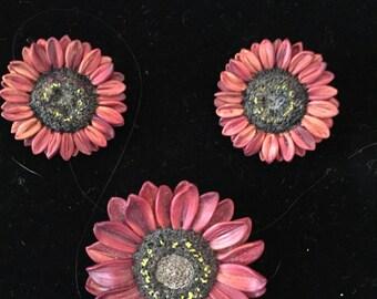 Vintage Peggy Madden polymer jewelry set