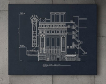 Canvas Wrap - Chicago Theatre Blueprint