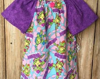 TMNT Girls Dress - NEW Teenage Mutant Ninja Turtle Fabric - TMNT Birthday Party - Halloween - Photo Outfit
