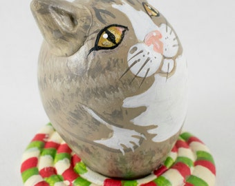 Cat on Rug Gourd