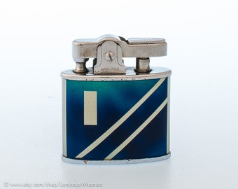 NOS 1950s Japanese Art Deco Royal Star Automatic Lighter with Enamel Finish